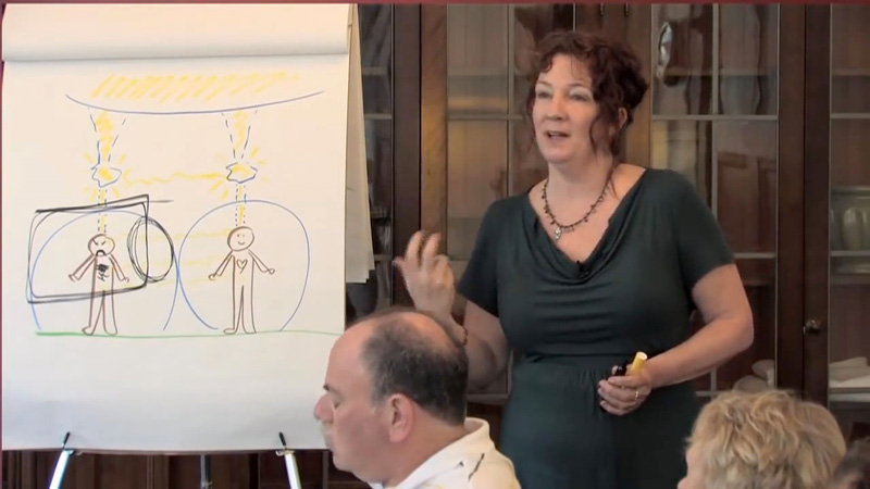 Mary teaching from chart
